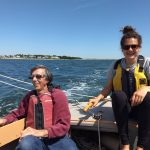 two adults sailing a Bullseye