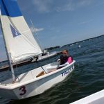 pram named Tally sailing with one student