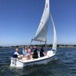 students sailing in the capri Dark Eyes